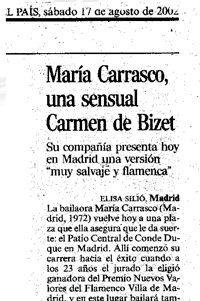 María Carrasco, recortes de prensa