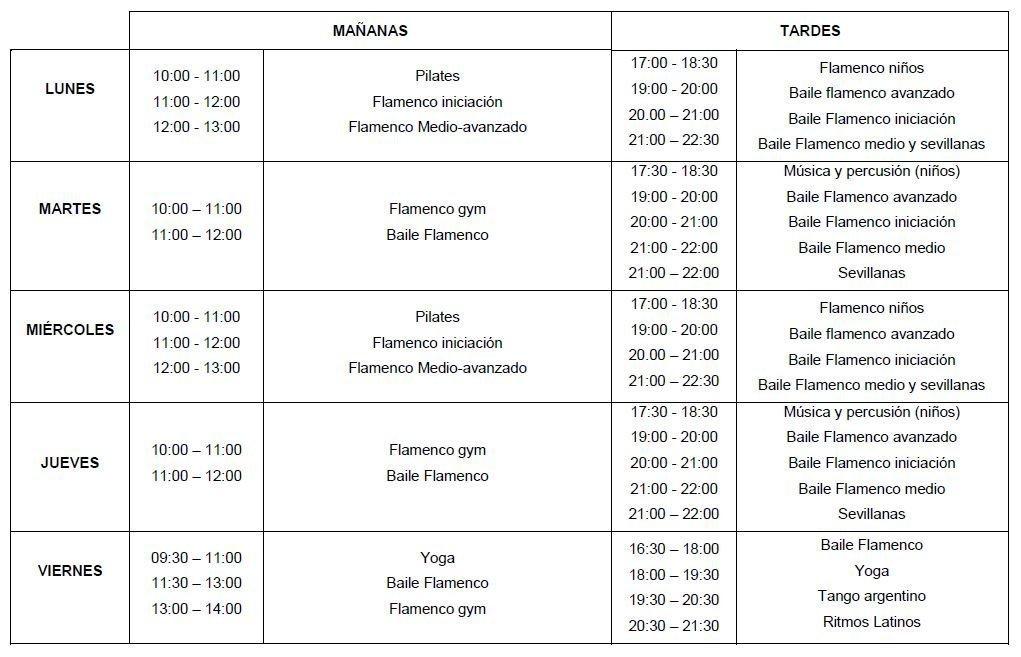 horarios semanales 2018-19